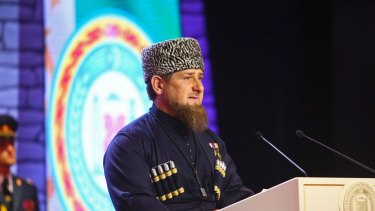 Chechen leader Ramzan Kadyrov.