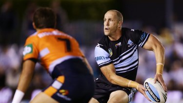 Giving something back: Jeff Robson and his Sharks side will travel to Leeton next week.