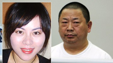 Nai Yin Xue (right) stands in the dock at the Auckland District Court, accused of murdering his wife Anan Liu (inset).