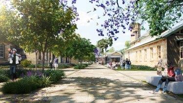 Artists impression of North Parramatta heritage precinct redevelopment.
