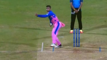 Rajasthan Royals youngster Riyan Parag stunned onlookers in his only over.