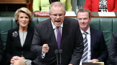 Immigration Minister Scott Morrison in Parliament.