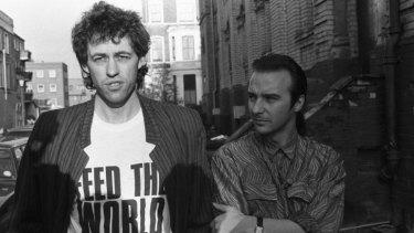 Christmas aid: Bob Geldof and Midge Ure in 1984.
