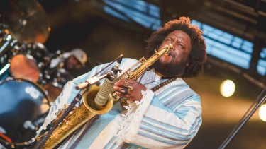 Modern jazz legend Kamasi Washington.