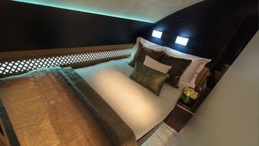 You can dream: Etihad Airways residence class bedroom.