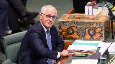 Prime Minister Malcolm Turnbull in Question Time.