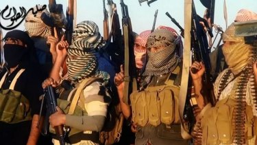 A video from Islamic State shows militants near the central Iraqi city of Tikrit.