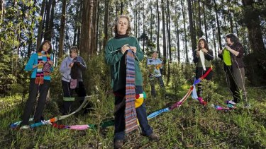 From left, Knitting Nannas Tess Hughes, Marion Lewis, Karena Goldfinch, Margaret O'Connell, Deanne Eccles and Lynn Dean.