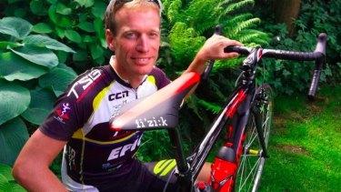 Lucy escape: Cyclist Maarten de Jonge.