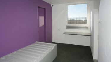 A picture of a cell inside the Bimberi Youth Justice Centre