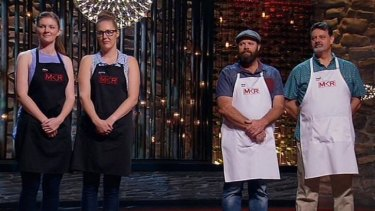 "Rob and Dave's advantage comes from the phrase ""Shake 'n' Bake"", which they plan to repeat so many times during the cook-off that Jane and Emma will hurl themselves out a window."