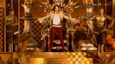 The magic trick danced to the new Jackson single <i>Slave to the Rhythm</i>.