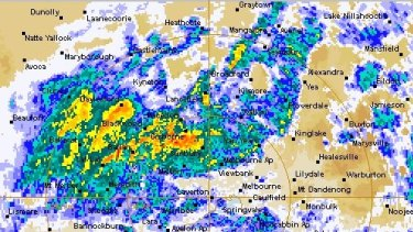 The current weather situation in Melbourne.