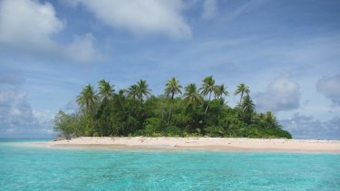 Tuvalu Prime Minister Enele Sopoaga, whose tiny nine-island nation has become the poster child for the threat of sea-level rise, vented his frustration at the audit findings. Pictured: Fualopa motu in Funafuti Conservation Area, Tuvalu.