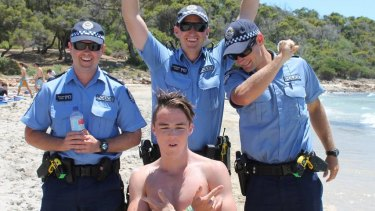 A 2013 Dunsborough leaver catches up with the boys in blue.