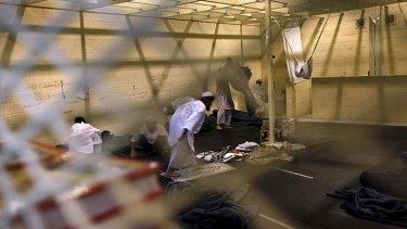 Inside the Parwan detention facility near Bagram Air Field in Afghanistan.