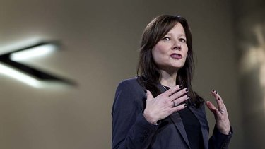 Mary Barra is the first female chief executive of GM.