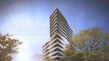 Artist's impression of the proposed development for 488 La Trobe Street, Melbourne.