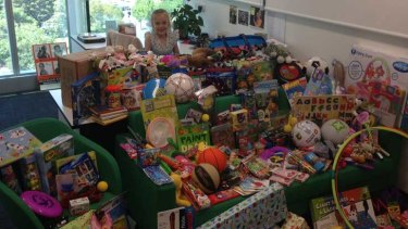 Senator Sarah Hanson-Young's daughter among the toys donated for children being held in offshore detention on Nauru.