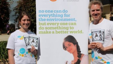 Action stations: Mirboo North Secondary College student and school captain, Dana Flahavin, with environmental activist Arron Wood at Change YOUR World Day held on September 12.
