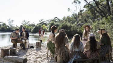 Scene from the series <i>Banished</i> airing on BBC First.