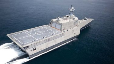 Littoral combat ship the USS Independence was the first of a possible 10 ships that Austal was asked to build for the US navy.