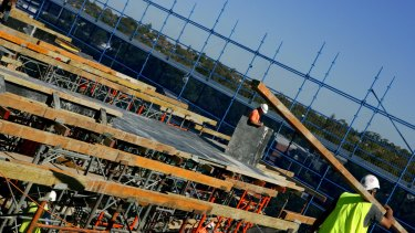 Construction sites are a common sight around Sydney.