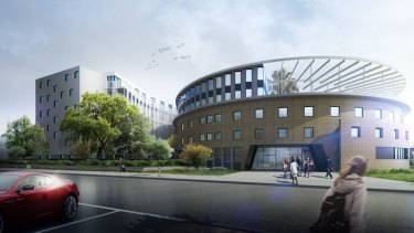 Artist's impression of GSA's plans for Whitley College on Royal Parade in Parkville.