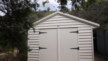 A pricey little weatherboard where two families can store their gear.