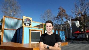 Dom Aboud at his makeshift restaurant in Parramatta for <i>Restaurant Revolution</i>.