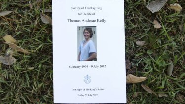 Thomas Kelly ... farewelled at the King's School chapel in Sydney.