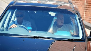 The Rolling Stones' promoter Michael Gudinski was seen leaving their hotel just after 2pm on Wednesday.