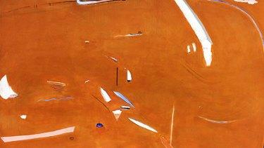 <i>Big Orange (Sunset)</i>, painted by Brett Whiteley in 1974.