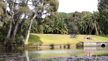 Under threat: Without government support, open spaces like Centennial Park may be forced to allow large-scale development.