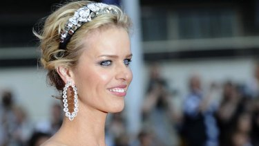 Model start... Supermodel Eva Herzigova helped launch the Costa Concordia back in 2006.