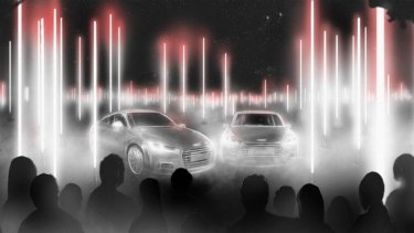 An impression of the Audi Array as it will appear in the White Night Festival.