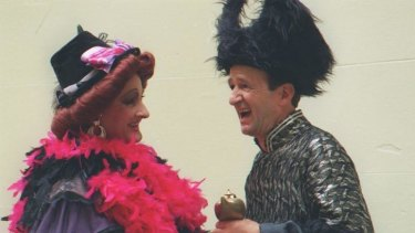 From the past: Garry McDonald and Paul Blackwell in the pantomime Alladin at the State Theatre two decades ago.