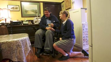 Life support: Rose Cox, 13, started caring for her mother at the age of eight after she became paralysed.