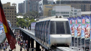 Off the tracks ... redevelopment plans for Sydney's new convention centre precinct could tear down the monorail.