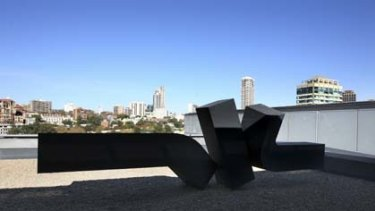 Obliterated from public view ... despite his international fame, Clement Meadmore's twisting, abstract sculpture on the Art Gallery of NSW roof is almost impossible to see.