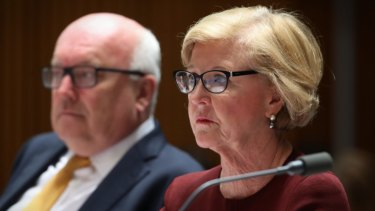 Human Rights Commission president Gillian Triggs has endured several fiery Senate hearings.