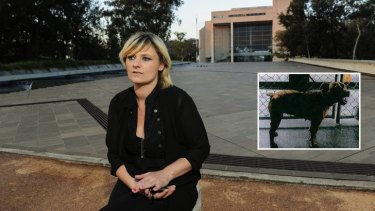 Tania Isbester has won her fight in the High Court to save her dog Izzy (inset) from being put down.