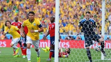 Thiago Silva gave Brazil an early lead.