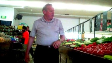 Tony Madafferi runs a fruit shop in Noble Park.