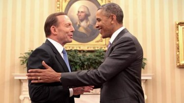 Prime Minister Tony Abbott and US President Barack Obama meet at the White House in June 2014.