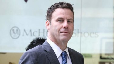 Steve Fletcher arrives at the Police Integrity Commission on Thursday.