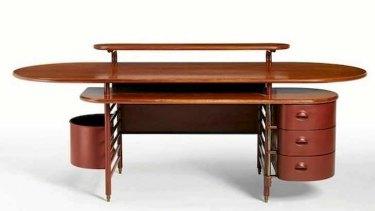 Frank Lloyd Wright's ''Johnson'' desk.