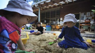 Head start: Children at KU John J. Carroll preschool, where teachers are degree-qualified.