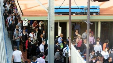 Waiting for myki: Commuters pass through barriers at Laverton Station where a 16-fold increase in use of the cards has occurred.