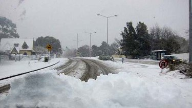 Blanket of snow ... roads were treacherous in Christchurch this morning.